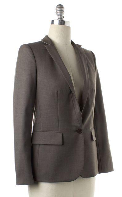 STELLA MCCARTNEY Gray Wool Single Button Notched Lapel Blazer