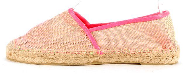 STELLA MCCARTNEY Neon Pink Woven Espadrille Flats