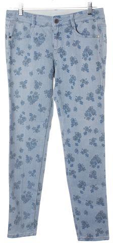 STELLA MCCARTNEY Blue Floral Print Skinny Jeans