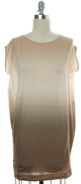 STELLA MCCARTNEY Beige Ombre Shirt Dress