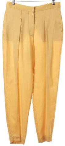 STELLA MCCARTNEY Yellow Wool Pleated Trouser Pants