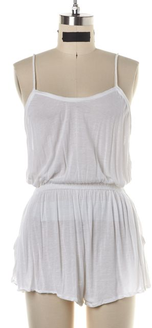 STELLA MCCARTNEY White Semi Sheer Racerback Tank Romper