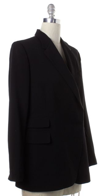 STELLA MCCARTNEY Black Wool Double Breasted Blazer Jacket