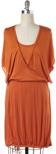 STELLA MCCARTNEY Orange Dolman Sleeved Layered Blouson Dress