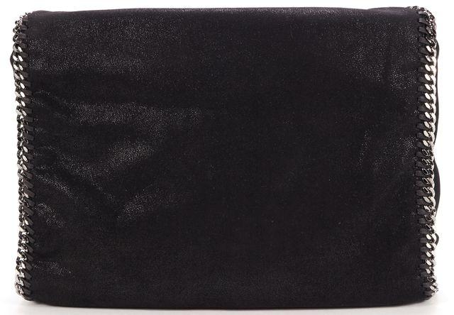 STELLA MCCARTNEY Black Shaggy Deer Falabella Tote Shoulder Bag