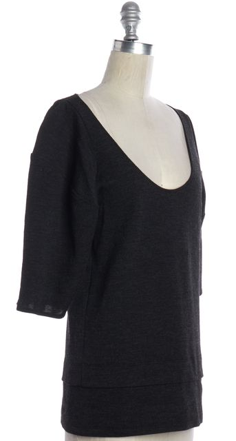 STELLA MCCARTNEY Gray Wool Knit Top