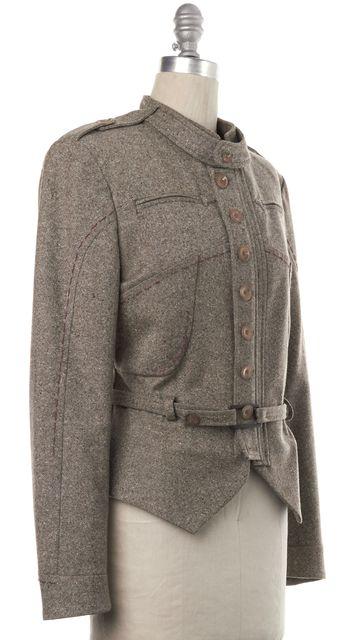 STELLA MCCARTNEY Brown Wool Button Up Jacket