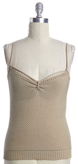 STELLA MCCARTNEY Beige Knit Top