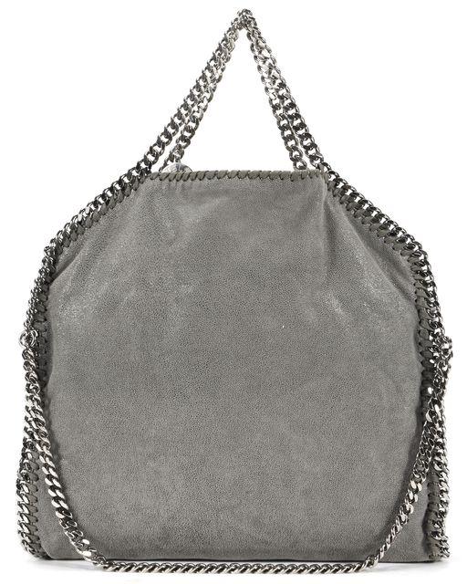 STELLA MCCARTNEY Gray Shaggy Deer Faux Suede Leather Falabella Shoulder Tote Bag