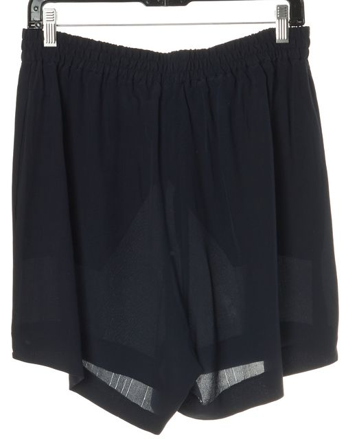 STELLA MCCARTNEY Blue Silk Elastic Waist Casual Shorts