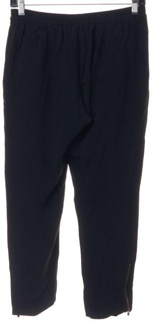 STELLA MCCARTNEY Black Ankle Zip Elastic Waist Casual Pants