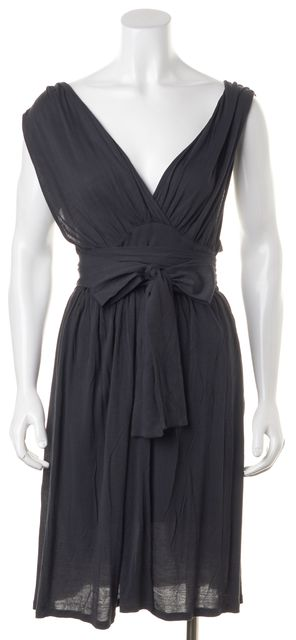 STELLA MCCARTNEY Gray Sleeveless Wrap Dress
