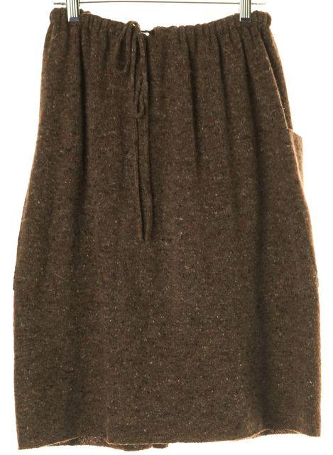 STELLA MCCARTNEY Brown Wool Cashmere Knit Skirt