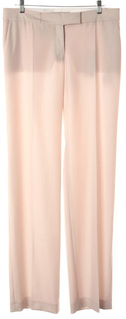 STELLA MCCARTNEY Baby Pink Wool Pleated Trouser Dress Pants
