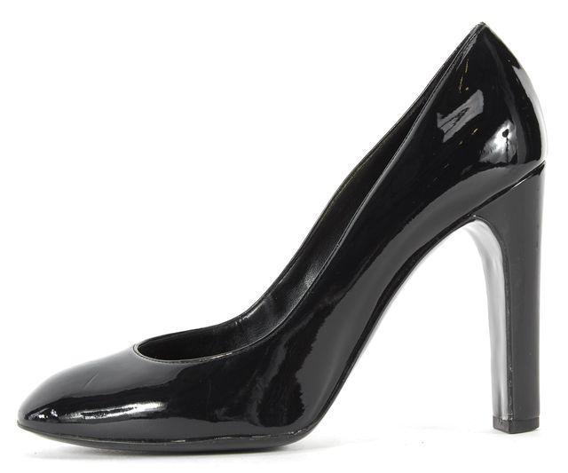 STELLA MCCARTNEY Black Patent Vegan Leather Round Toe Pumps