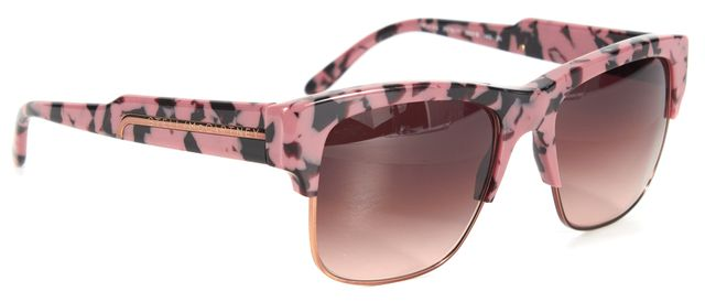 STELLA MCCARTNEY Pink Black Printed Acetate Gradient Lens Square Sunglasses