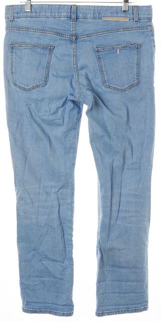 STELLA MCCARTNEY Blue Flower Patch Embroidered Skinny Boyfriend Jeans