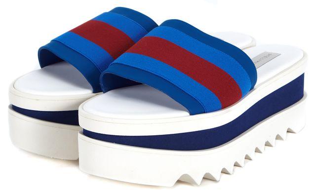 STELLA MCCARTNEY Blue Red Slip On Platform Shoes