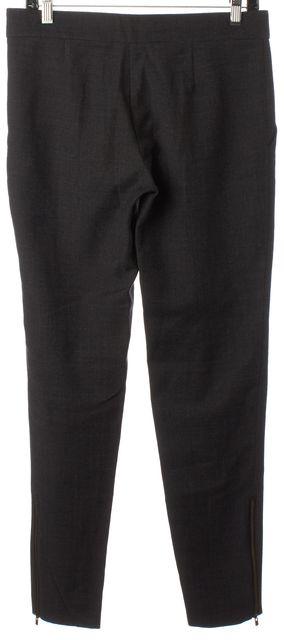 STELLA MCCARTNEY Gray Wool Ankle Zip Trouser Dress Pants