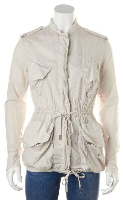 STELLA MCCARTNEY Beige Drawstring Basic Anorak Jacket