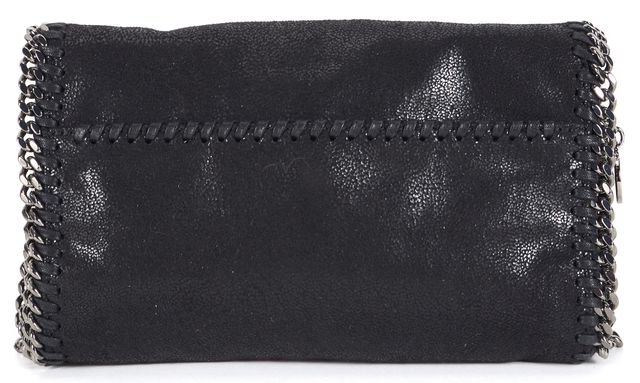 STELLA MCCARTNEY Black Shaggy Deer Vegan Leather Crystal Falabella Crossbody
