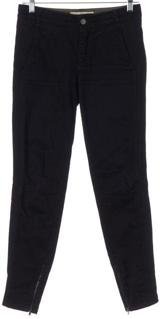 STELLA MCCARTNEY Black Stretch Cotton Ankle Zip Skinny Jeans