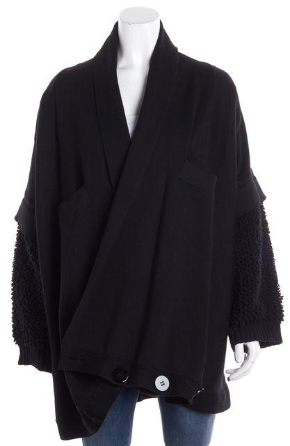 STELLA MCCARTNEY Black Open Cardigan Sweater