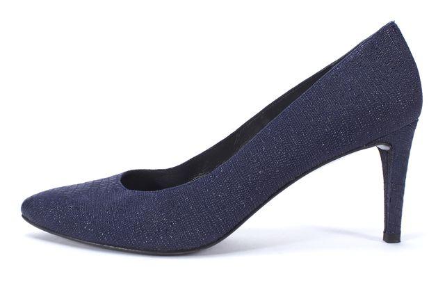 STUART WEITZMAN Navy Blue Textured Low Heel Pump Size 11