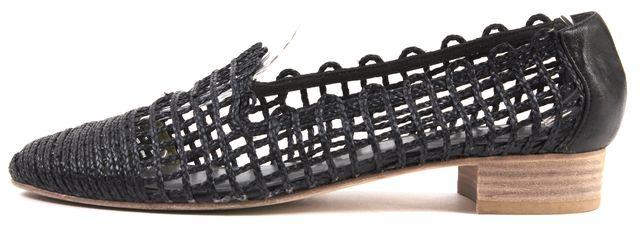 STUART WEITZMAN Black Caged Basket Weave Flats