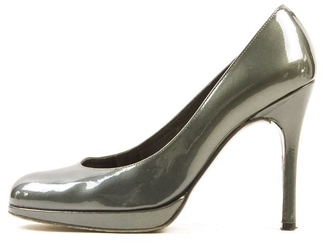 STUART WEITZMAN Hunter Green Patent Leather Round Toe Pumps