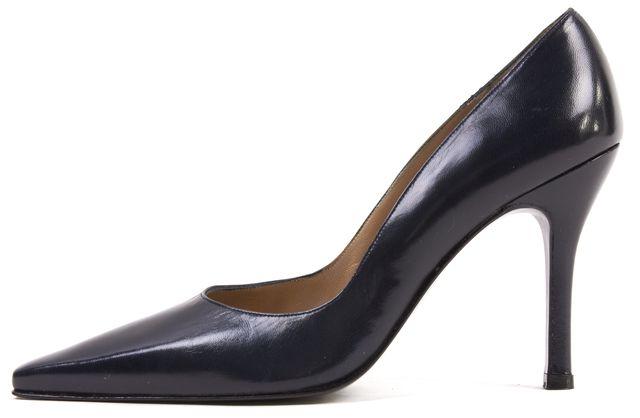STUART WEITZMAN Navy Blue Leather Heels