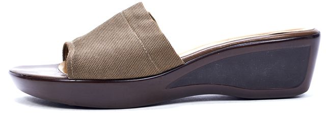 STUART WEITZMAN Brown Slip-on Sandals