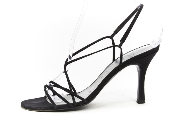 STUART WEITZMAN Black Casual Strap Sling Back Dress Sandal Heels