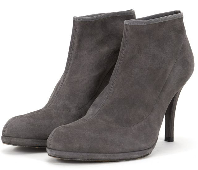 STUART WEITZMAN Gray Suede Leather Pumps Ankle Boots