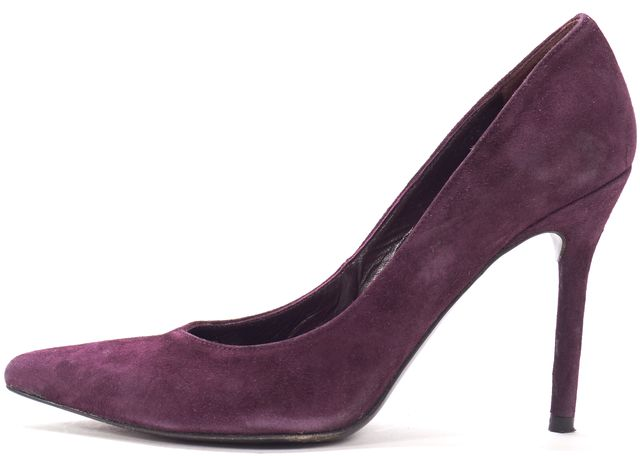 STUART WEITZMAN Purple Suede Pointed Toe Pump Heels