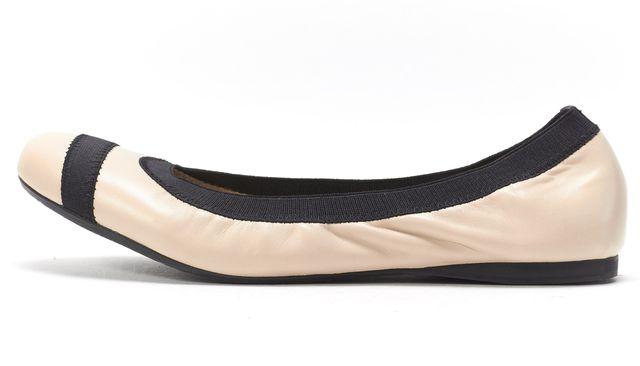 STUART WEITZMAN Beige Pan Nappa Leather Giveable Ballerina Flats