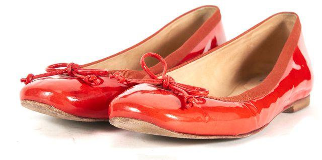 STUART WEITZMAN Red Patent Leather Ballet Flats
