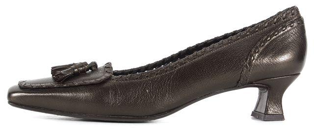 STUART WEITZMAN Brown Leather Tassel Pointed Toe Pump Heels