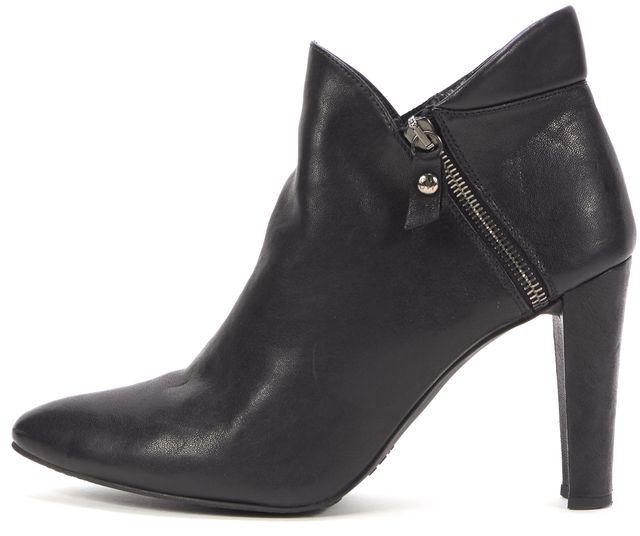 STUART WEITZMAN Black Leather Bootie