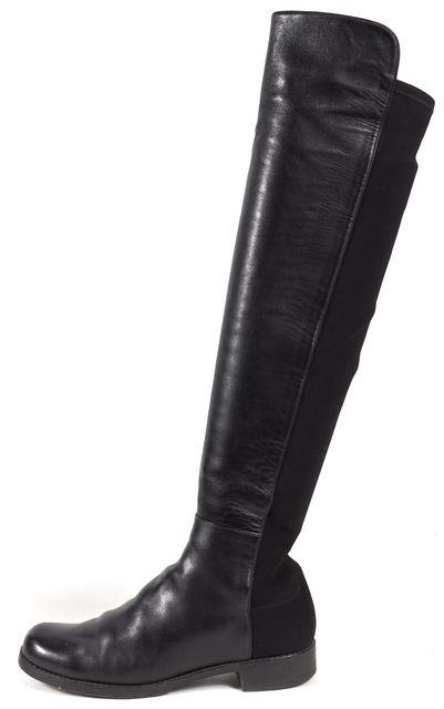 STUART WEITZMAN Black Leather Knee-high Tall Boots