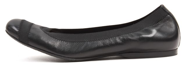 STUART WEITZMAN Black Nappa Leather Flats