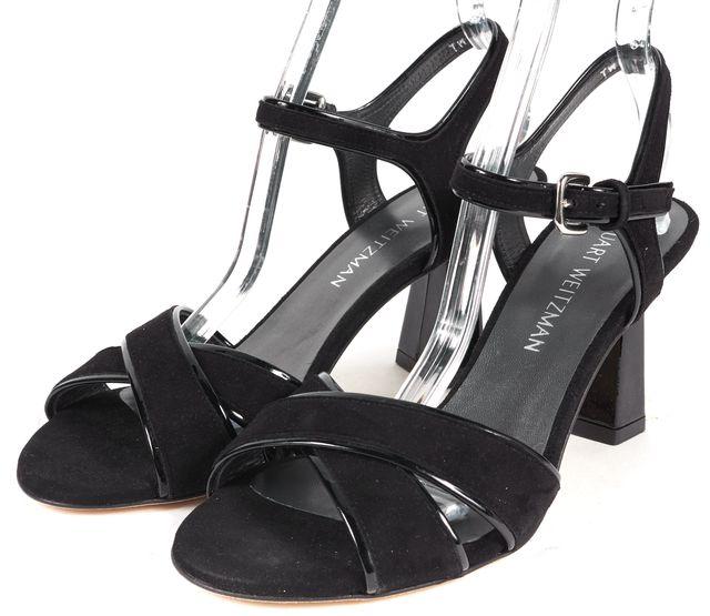 STUART WEITZMAN Black Suede SunZen Sandal Heels