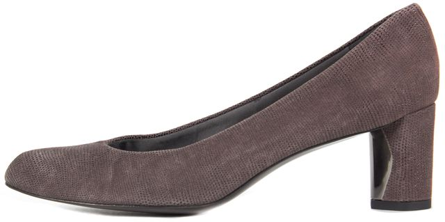 STUART WEITZMAN Brown Embossed Suede Pump Heels