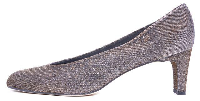 STUART WEITZMAN Silver Gold Metallic Pyrite Nocturn Chic Pumps Heels