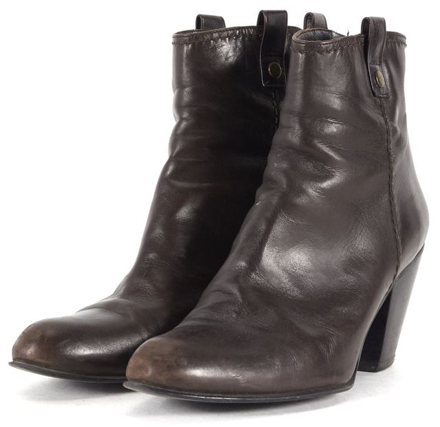 STUART WEITZMAN Brown Butter Leather Hipgal Ankle Boots
