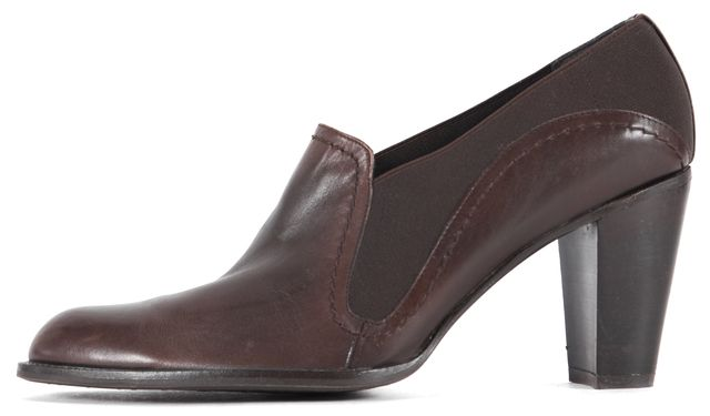 STUART WEITZMAN Brown Leather Heeled Chelsea Low Ankle Boots