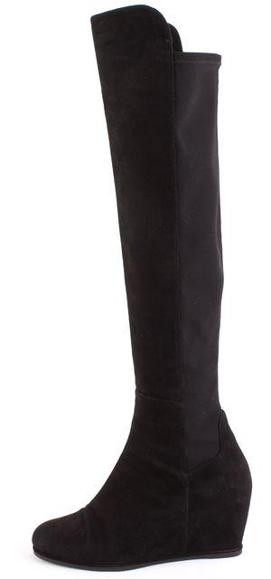 STUART WEITZMAN Black Suede Knee-high Boot Boots