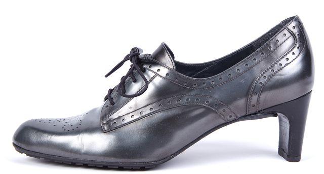 STUART WEITZMAN Gray Leather Oxfords
