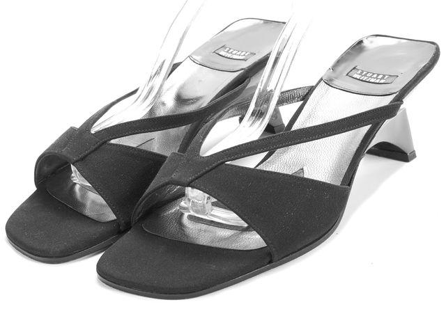 STUART WEITZMAN Black Vintage Strappy Sandal Heels