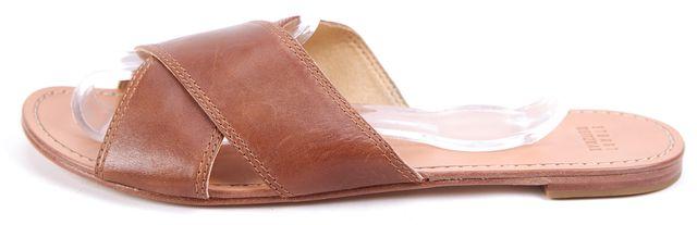 STUART WEITZMAN Brown Leather Byway Crisscross Sandals